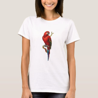 Roter Macaw-Vogel T-Shirt