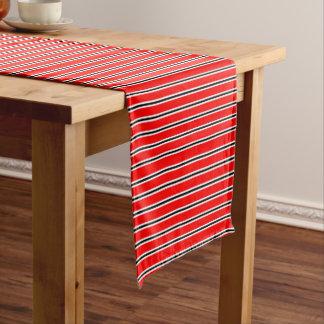 Roter Manchester-Fußball-Barschal Kurzer Tischläufer