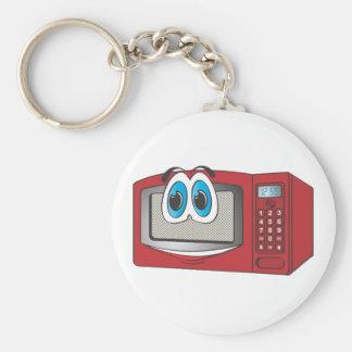 Roter männlicher Mikrowellen-Cartoon Schlüsselanhänger