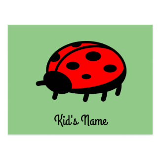 Roter Marienkäfer Postkarte