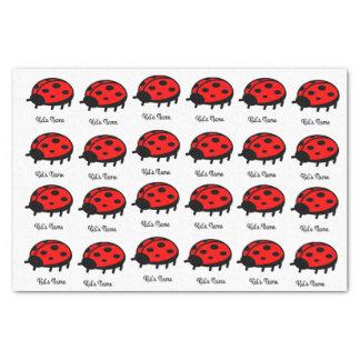 Roter Marienkäfer Seidenpapier