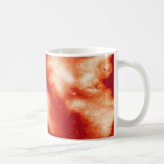 Roter Marmor befleckter Kaffeetasse