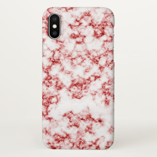 Roter Marmor iPhone X Hülle