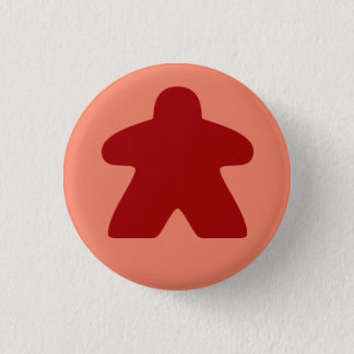 Roter Meeple Knopf Runder Button 2,5 Cm