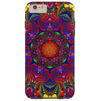 Roter mehrfarbiger Kaleidoskop-Fraktal iPhone Tough iPhone 6 Plus Hülle