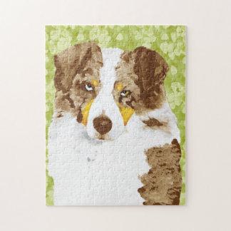 Roter Merle australischer Schäfer-Hund Puzzle