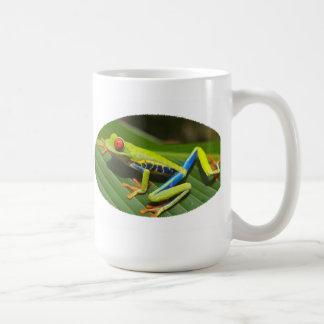 Roter mit Augen grüner Baum-Frosch Kaffeetasse
