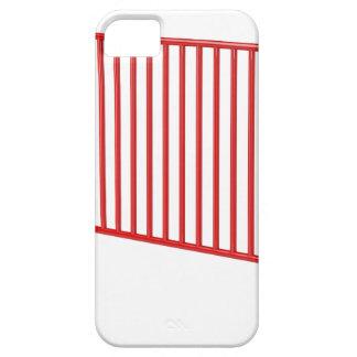 Roter mobiler Zaun iPhone 5 Hülle