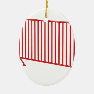 Roter mobiler Zaun Keramik Ornament