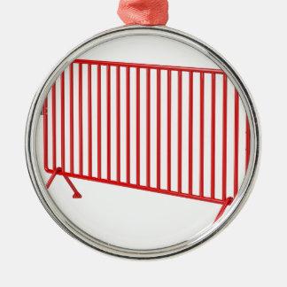 Roter mobiler Zaun Silbernes Ornament