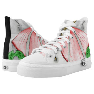 Roter Mod-Engel Hoch-geschnittene Sneaker
