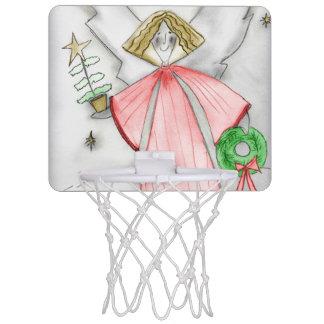 Roter Mod-Engel Mini Basketball Ring