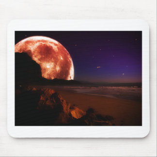 Roter Mond Mousepad
