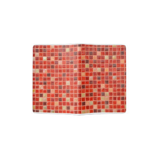 Roter Mosaik-Fliesen-Hintergrund Passhülle