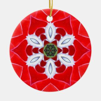 Roter Muschel-Stern Keramik Ornament