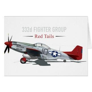 Roter Mustang des Schwanz-P-51 der Tuskegee Karte