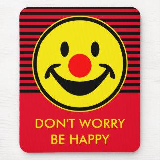 Roter Nasen-smiley - Gelb + Ihre Ideen Mauspads