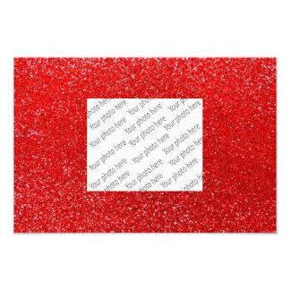 Roter NeonGlitter Photo Druck