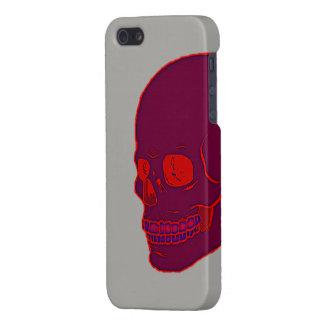 Roter Neonschädel Etui Fürs iPhone 5