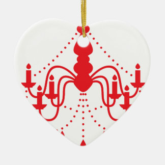 Roter niedlicher Leuchter Keramik Herz-Ornament