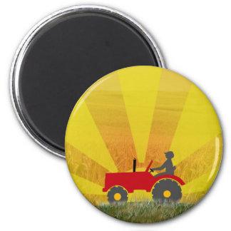 Roter oder grüner Traktor-Magnet Runder Magnet 5,7 Cm