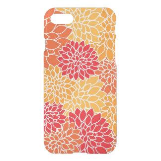 Roter/orange Blumenmuster-Ablenker iPhone 7 Kasten iPhone 8/7 Hülle