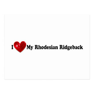 Roter Paillette-Bild Rhodesian Ridgeback Hund Postkarte