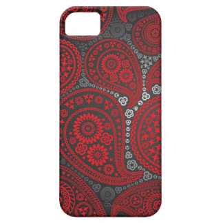 Roter Paisley-Kasten Barely There iPhone 5 Hülle