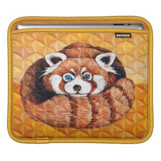 Roter Panda auf orange Kubismus Geomeric iPad Sleeve