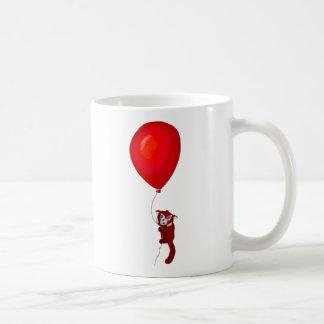 Roter Panda-Ballon-Flug Kaffeetasse