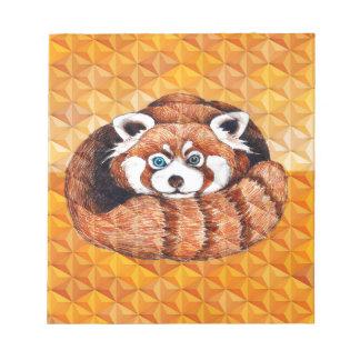 Roter Panda betreffen orange Kubismus Notizblock