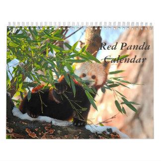 Roter Panda-Kalender Abreißkalender