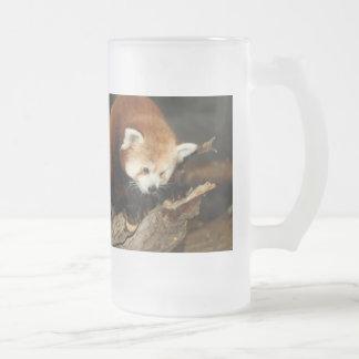 Roter Panda Mattglas Bierglas