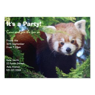 Roter Panda-Party Einladung