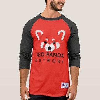 Roter Panda-roter Baseball T T-Shirt