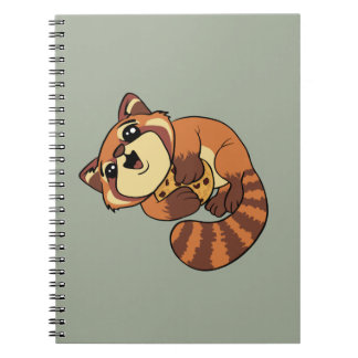 Roter Panda! Spiral Notizblock