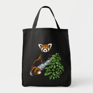 Roter Panda-Taschen-Tasche Einkaufstasche