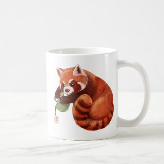 Roter Panda-Tee-Zeit Kaffeetasse