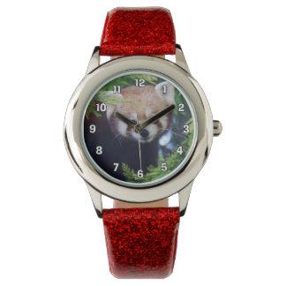 Roter Panda Uhr