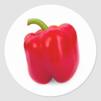 Roter Paprika Runder Aufkleber