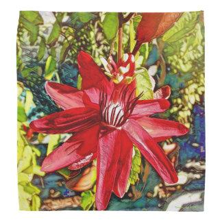 Roter Passionflower-BlumeValentinehübscher Bandana Kopftuch