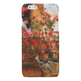 Roter Pelargonie-Impressionismus