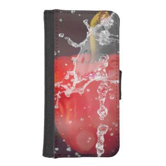 Roter Pfeffer-Spritzen iPhone 5 Geldbeutel