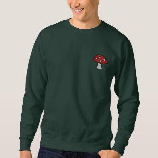 Roter Pilz gesticktes Sweatshirt