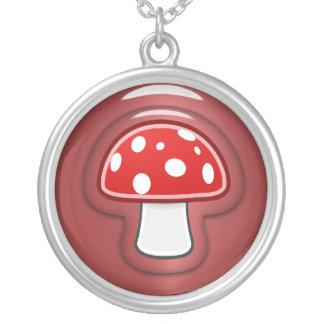 Roter Pilz Versilberte Kette