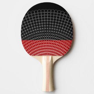 Roter Planeten-geometrisches Muster Tischtennis Schläger