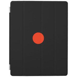 Roter Punkt mit schwarzem backgroud - iPad Hülle