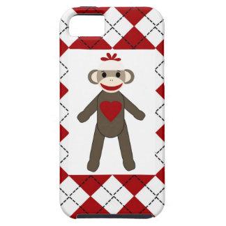 Roter Rauten-Affe mit einem Herz iPhone 5 Fall iPhone 5 Hülle