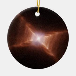 Roter Rechteck-Nebelfleck HD 44179 Keramik Ornament