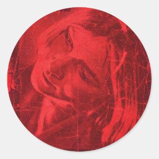 Roter Reflexions-Aufkleber - kundengerecht